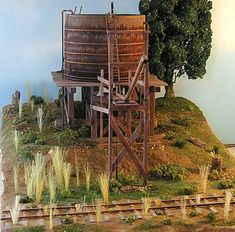 """Railroad Line Forums - The Gallery: Mar. """"Towers: Water, Coal & More"""" Ho Scale Train Layout, Ho Scale Trains, Model Train Layouts, Water Tank, Model Trains, Towers, Tanks, Cabin, Amp"""