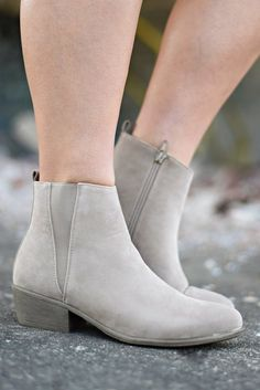 Chic Street Booties, Taupe