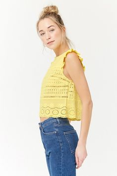 Embroidered Eyelet Top | Forever21