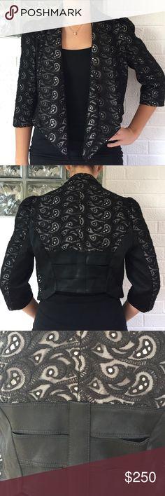 Karen Millen Blazer Excellent condition lace blazer with unique back detailing!!! Perfect for the holidays!!!! Karen Millen Jackets & Coats Blazers