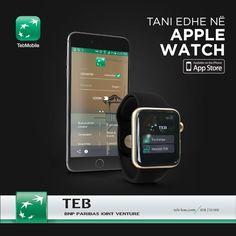 TEB Mobile me inovacione të reja Aplikacionin TEB Mobile tani mund ta keni edhe në Apple Watch. TEB BANK, Bankë për një botë në lëvizje.