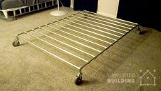 47 DIY Bed Frame Ideas Built with Pipe  #KeeKlamp #diybedframe #pipefurniture