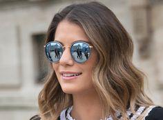 E! #fashion #summer #rayban #sunglasses #round metal #folding www.fuva.nl