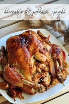 chicken baked with garlic