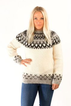 Skipper Wool Pullover White - Wool Sweaters - Shop Icelandic Products