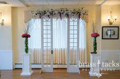 Indoor Ceremony Photo by: Brass Tacks Photography Flowers: Darlene's Salem, MA