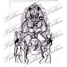 pharaoh back tattoo - Google Search