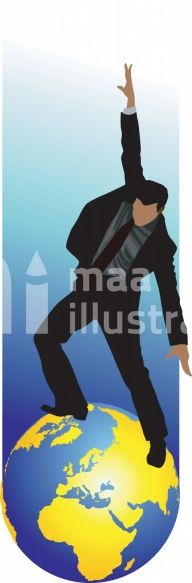 Businessman Dancing On The Earth