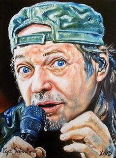 Dipinto raffigurante Vasco Rossi..  Olio su tela 30X40  Su Ebay..