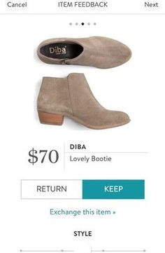 Perfect heel height for me! DIBA Lovely Bootie from Stitch Fix. https://www.stitchfix.com/referral/4292370
