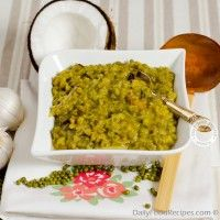Mung Bean Curry Recipe is well known for its healthy & delish credentials like its 'bean cousin' lentil curry. It's all about soft nutty taste of mung beans along with coconut milk & other lovely spicy ingredients.