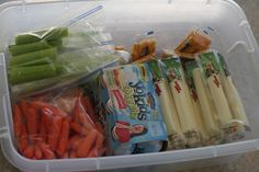 """Cold Lunches for the Week all made in one day! In the morning, just grab food you prepped earlier in the week from the """"Lunch Container"""" and you're DONE!! Genius!  #backtoschool #schoollunch (happymoneysaver.com)"""