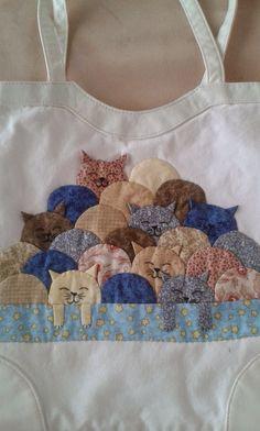 Bolsa con Aplique de gatos