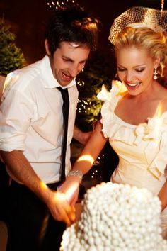 Katherine Heigl & Josh Kelley (December 23, 2007) Gown: Oscar de la Renta | Location: Park City, Utah | Status: Married, 2 Children
