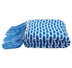 Kas Jacob 130x170cm Throw Blue