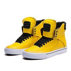 SUPRA KONDOR | YELLOW / BLACK-WHITE | Official SUPRA Footwear Site