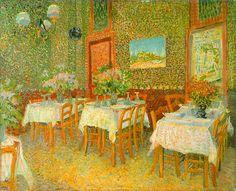"vincentvangogh-art: "" Interior Of A Restaurant 1887 Vincent van Gogh ..."