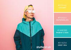 101 Color Combinations to Inspire Your Next Design – Punchy Pastel Color Palette Pastel Colour Palette, Colour Pallette, Pastel Colors, Color Combos, Good Colour Combinations, Pink Color, Color Schemes Design, Brown Color Schemes, Couleur Hexadecimal