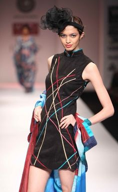 """""""Wills Lifestyle India Fashion Week SS Day 3 by Sonam Dubal Wills Lifestyle, Lifestyle Clothing, Natural Fiber Clothing, India Fashion Week, Love Affair, Latest Fashion Trends, Indiana, Ethnic, High Neck Dress"""