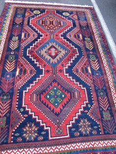 Floral Border Lori Bakhtiari Tribal Persian by ShayanPersianRugs, $1260.00