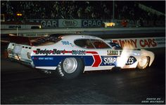 Soapy Sales Dodge Demon funny car, driven by Richard Tharp