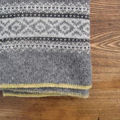 Fairisle Blanket. I love the calm neutral shades and then the little edge of colour.