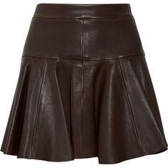 Thakoon Leather skater skirt ($865) found on Polyvore