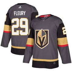 cheap for discount 82f3b b5af4 Men s Vegas Golden Knights Marc-Andre Fleury adidas Gray Authentic Player  Jersey Golden Knights Hockey