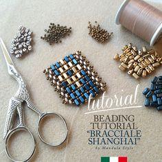 DIY Beading Tutorial Bracciale Shanghai_ITA / Schema fotografico / Tutorial