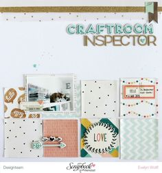 Craftroom Inspector |Scrapbooking Layout