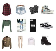 """""""Not So Girly"""" by shannonridge on Polyvore featuring Madewell, Boohoo, Sans Souci, GUESS, Karl Lagerfeld, Red Herring and Converse"""