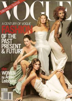 Kate Moss, Lauren Hutton, Iman, Gisele Bundchen, Naomi Campbell and Stephanie Seymour shot by Annie Leibovitz for US VOGUE November 1999 | Fashion Editor Paul Cavaco | Hair Julien D'Ys| Make-up Diane Kendal.