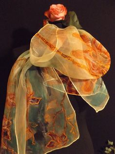 Handpainted finest Silk 3.5 as large by StefaniaSilkArt on Etsy