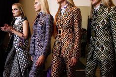 3d94a6fbc17 The A W collections from Miu Miu and Prada pay tribute to the with  geometric prints
