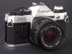 Canon AE-1Program 35mm SLR Camera & FD 50mm f/1.8N Lens Good for Students NiCE !