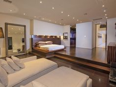 Bedroom And Living  Flawless Design: Contemporary Luxury Home in Beverly Hills, California