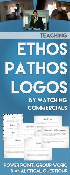 Teaching ethos pathos and logos? Use this power point to study real commercials and keep your students engaged. Teaching Language Arts, Teaching Writing, Teaching Tips, Education English, Teaching English, Ap 12, Ap Language And Composition, Middle School English, School Classroom