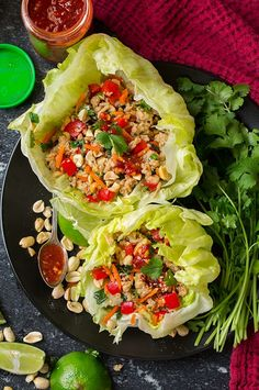 Thai Chicken Lettuce Wraps - Cooking Classy