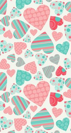 Image via We Heart It #background #colors #hearts