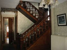 """The back stairs of Blakeley House, out of the novel """"The Captive Imposter"""" by Dawn Crandall"""