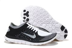Womens Nike Free 4.0 Flyknit White Black