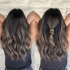 Ombre Ash 🙌My client said I& gonna do the Signature knot 😂😂 it& a d. Alpingo Balayage , Ash 🙌My client said I& gonna do the Signature knot 😂😂 it& a d. Ash 🙌My client said I& gonna do the Signature knot 😂😂 it& a d. Balayage Brunette, Hair Color Balayage, Hair Highlights, Ashy Brown Hair Balayage, Ash Brown Hair With Highlights, Ash Brunette, Brunette Highlights Summer, Medium Ash Brown Hair, Light Brunette Hair