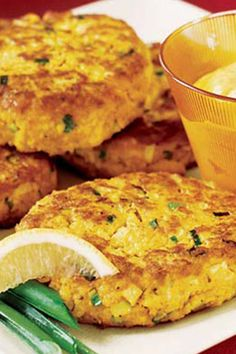 Erin Winemiller created these seafood cakes using the new convenient pouches of boned, skinned salmon.#seafood #seafoodrecipes #seafooddishes #recipes Seafood Dishes, Seafood Recipes, Salmon Cakes, Apple Bread, Curry Powder, Salmon Burgers, Pouches, Good Food, Vegetarian
