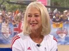 "Helen Mirren: 'I'm so into the Olympic spirit.' (... Me: ""I'm so into Helen Mirren"")"