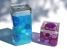 Faux stained glass containers. ~ Mod Podge Rocks!