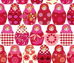 Poup 233 e russe vick rouge rose fabric by nadja petremand on spoonflower