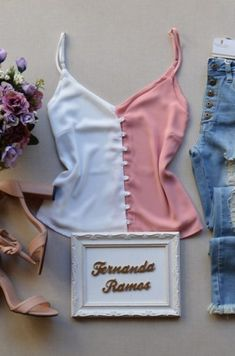 Regatas | Categorias de produto | Fernanda Ramos Store | Página 18 Casual Work Outfits, Cute Summer Outfits, Chic Outfits, Saree Blouse Designs, Blouse Styles, Baby Girl Jumpsuit, Teenager Outfits, Casual Looks, Ideias Fashion