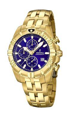 Festina Unisex Erwachsene Chronograph Quarz Smart Watch Armbanduhr mit Paqué or Armband Unisex, Herren Chronograph, Gold Watch, Omega Watch, Rolex Watches, Bracelets, Smart Watch, Bracelet Watch, Accessories