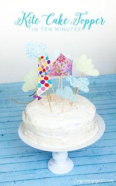 DIY Kite cake topper in ten minutes
