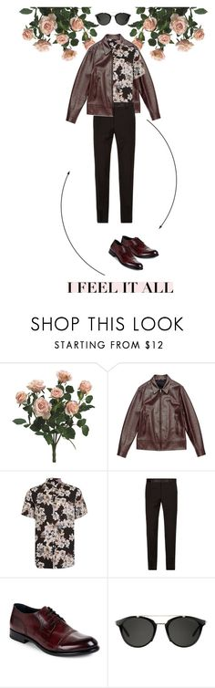 """""""Roses."""" by zeljkaa ❤ liked on Polyvore featuring Valentino, Topman, Dolce&Gabbana, Harrys of London, Carrera, men's fashion and menswear"""